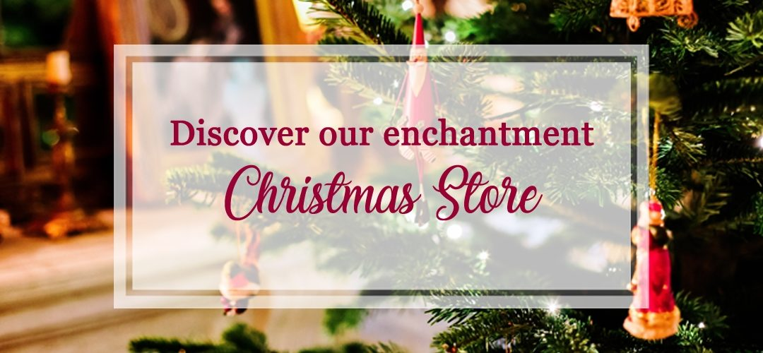 Enter the magic of our Christmas shop